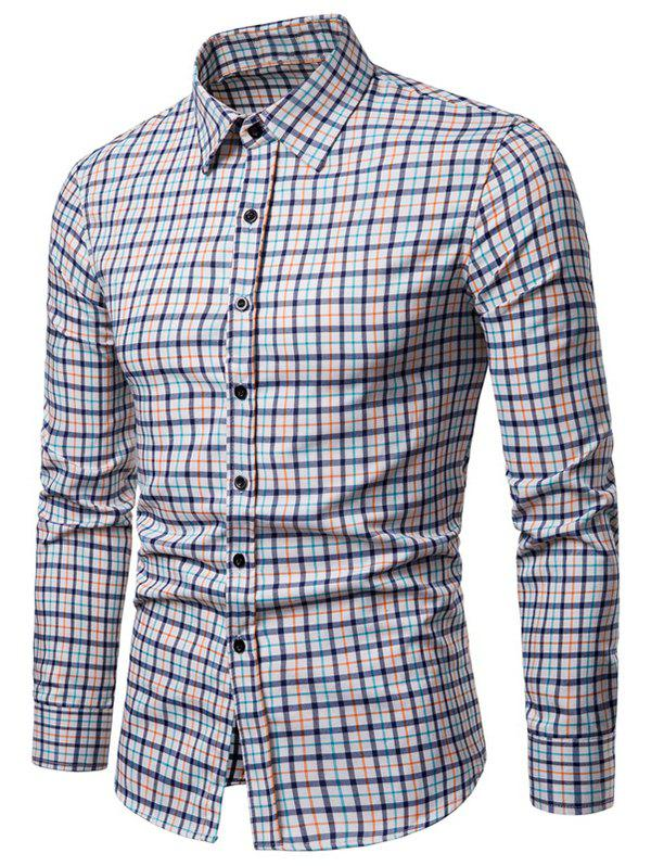 Sale Long Sleeve Plaid Printed Button Up Casual Shirt