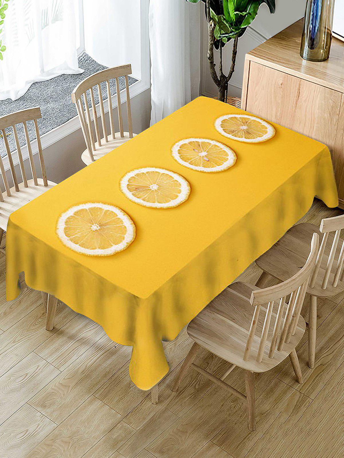 Nappe de Table Décorative à Imprimé Tranches de Citron
