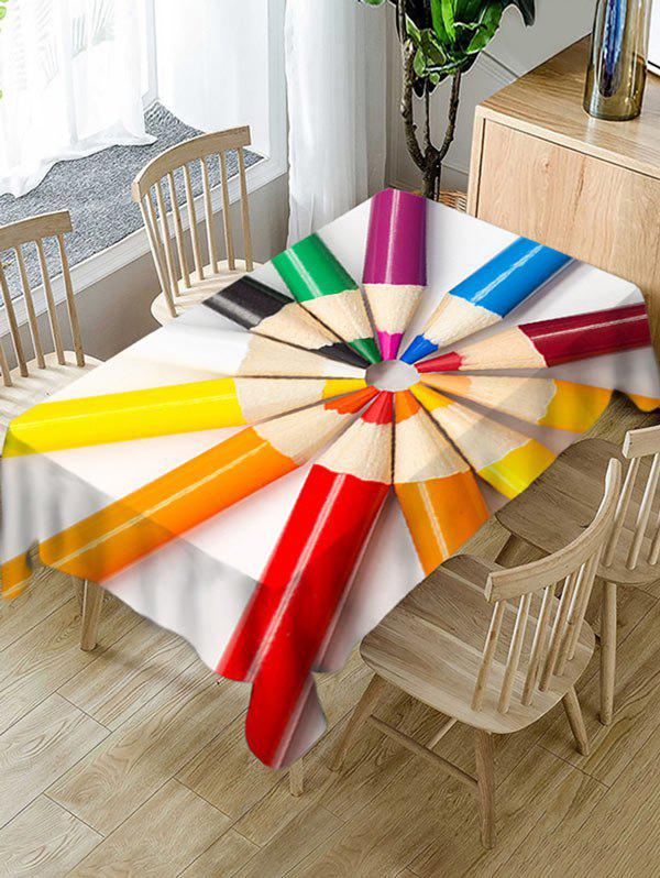 Online Colorful Pencils Print Table Cloth