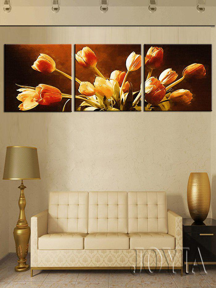 Fancy Wall Art Tulips Printed Split Canvas Paintings