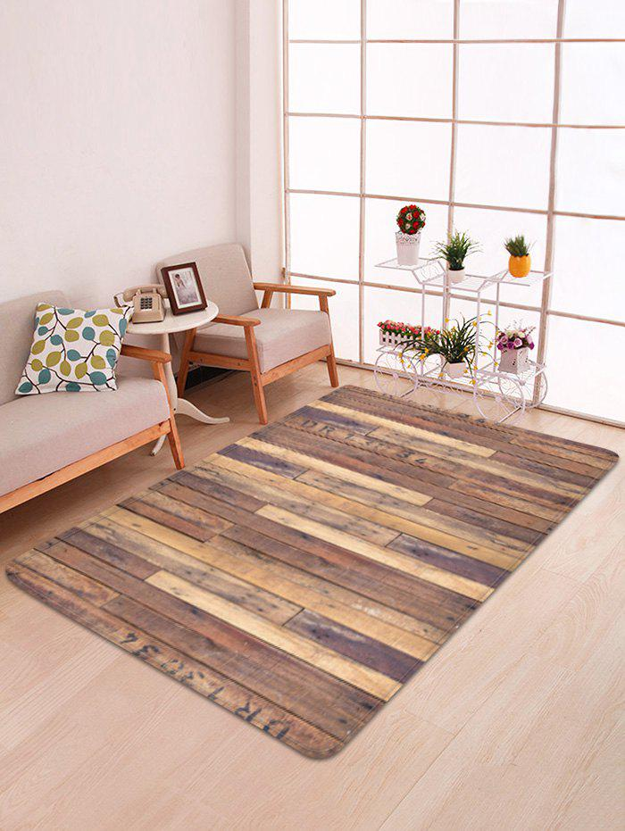 Cheap Wooden Printed Water Absorption Area Rug