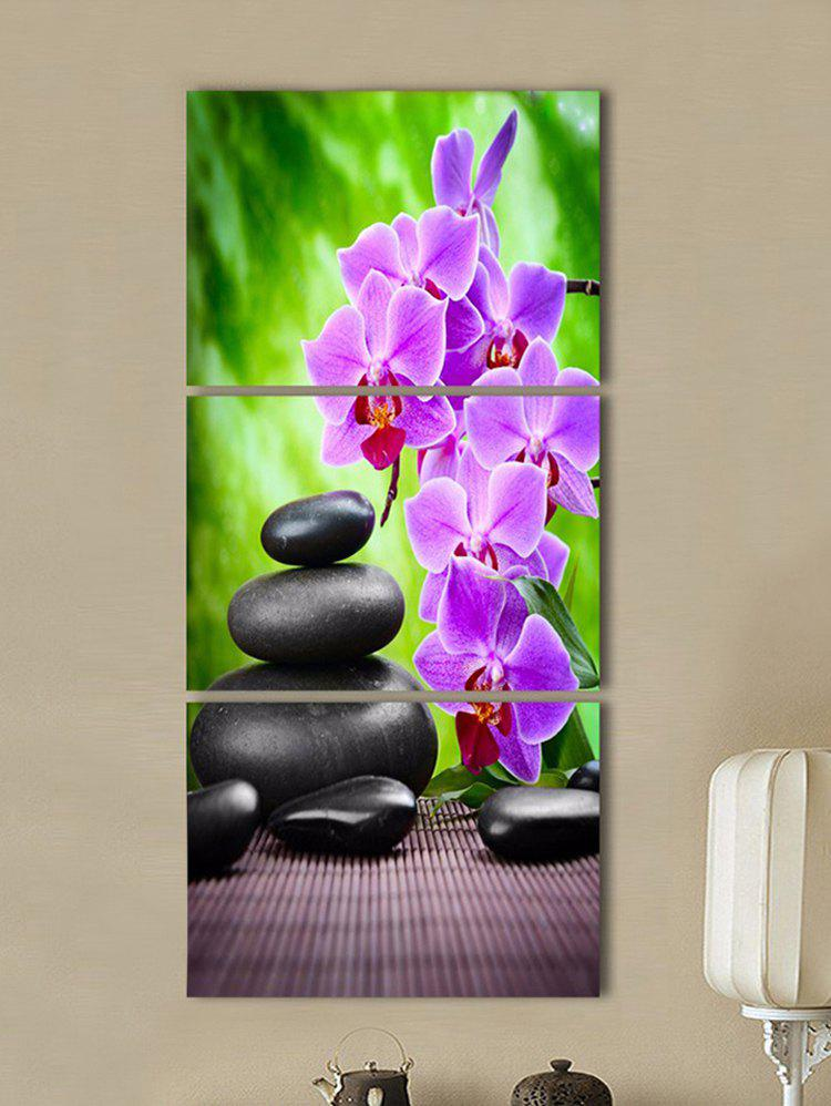 Buy Flower and Stone Print Split Canvas Paintings