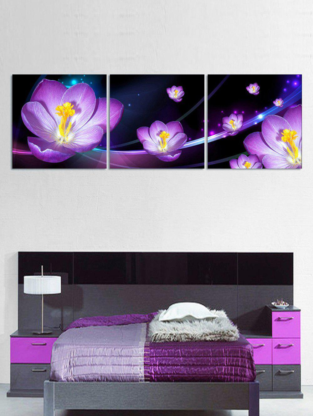 Affordable Flower Print Split Canvas Paintings