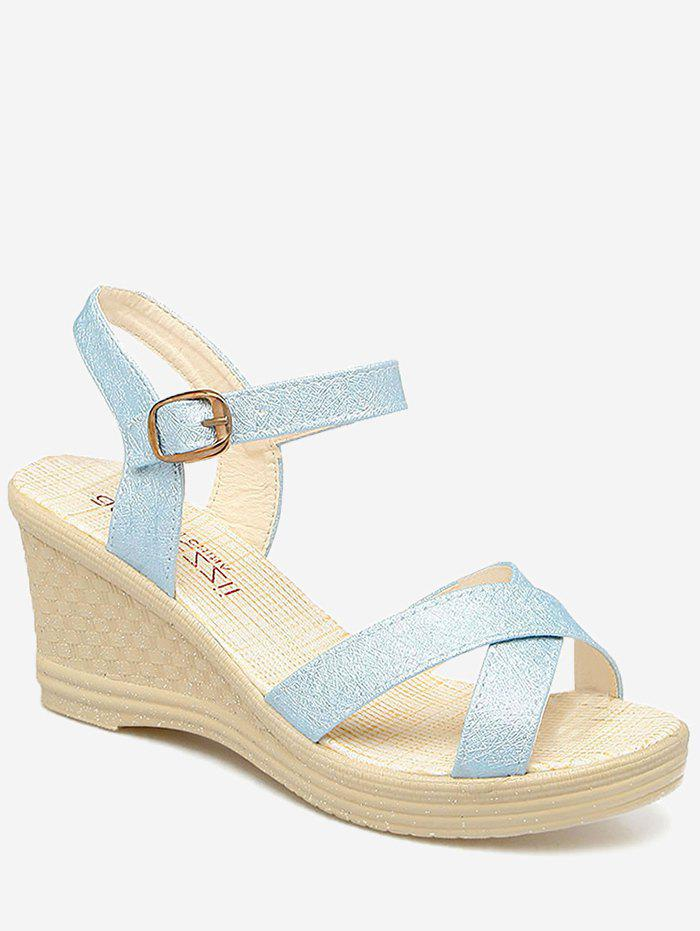 Shop Wedge Heel Crisscross Strap Sandals