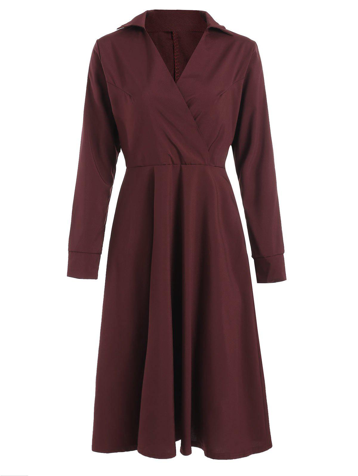 Discount Surplice A Line Shirt Dress