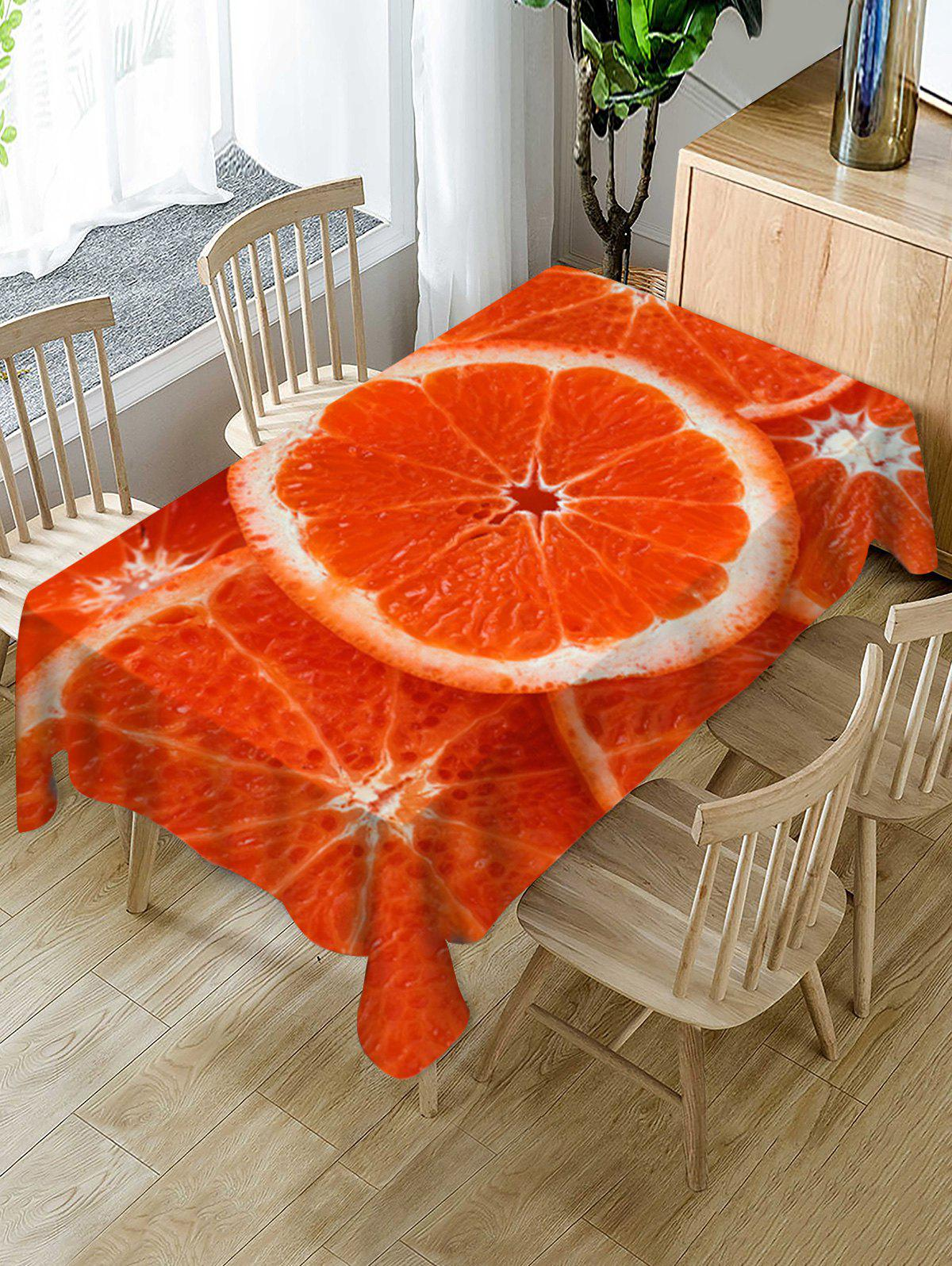 Outfits Orange Slices Print Decorative Table Cloth