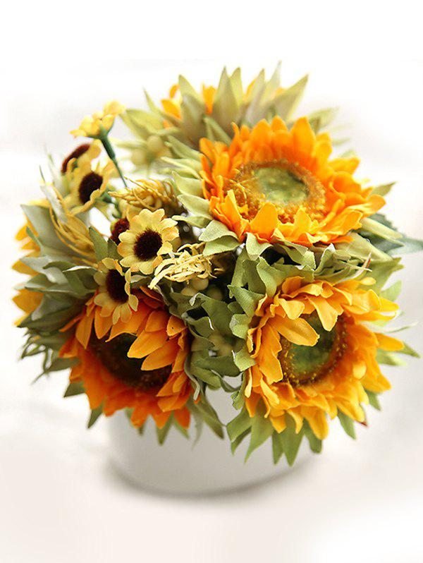 Latest Home Decoration Artificial Flowers 5 Pcs Sunflowers and Daisy
