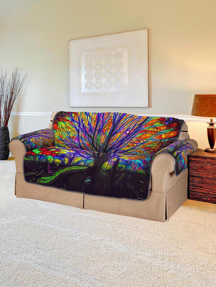 Cheap Colorful Tree Print Couch Cover