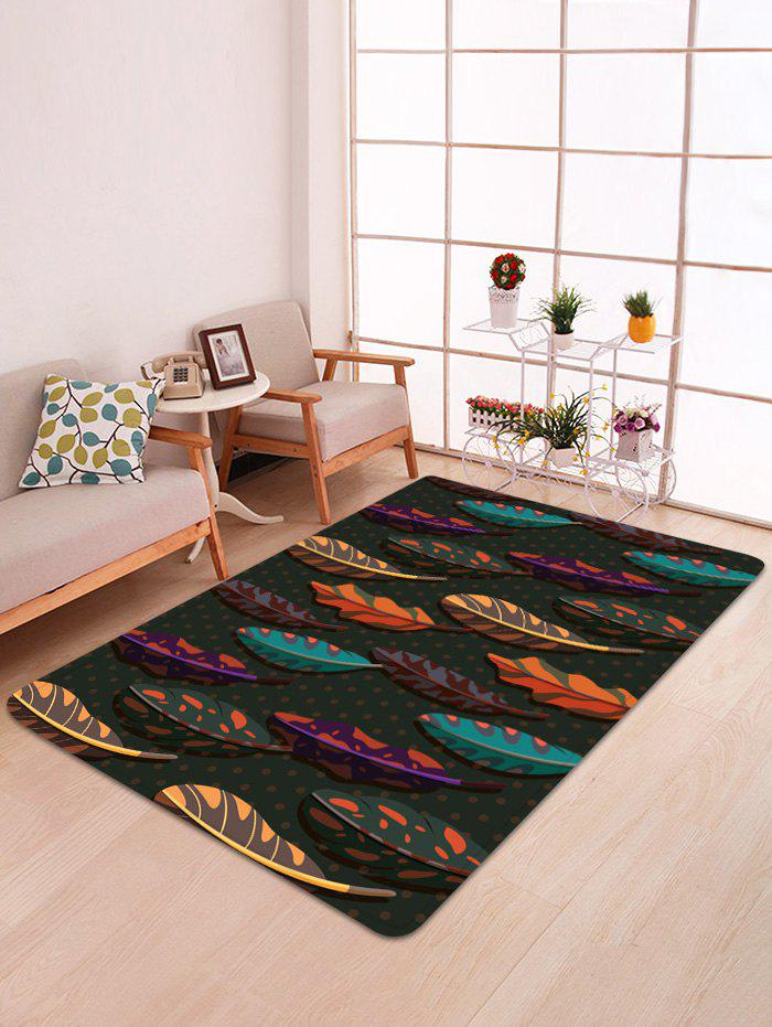 Fashion Colorful Leaves Print Floor Mat