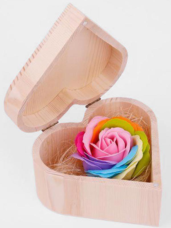 Best Valentine Gift Colorful Rose Soap with Heart Box