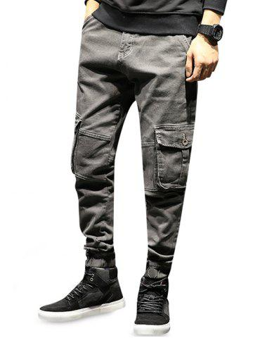 Cargo Pockets Jogging Jeans