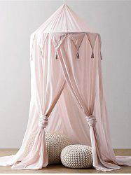 Kid's Rome Decoration Tassels Round Dome Chiffon Mosquito Net -