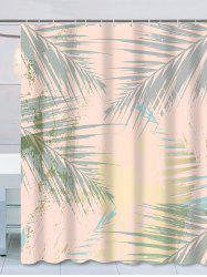 Waterproof Palm Leaves Print Thicken Shower Curtain -