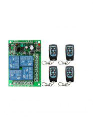 4 Pcs RF Wireless Remote Switch Control and 433 MHz Universal Relay Receiving Module -