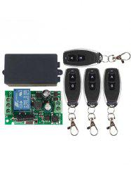 433 Mhz 4 Pcs Universal Wireless Remote Switch Control and Relay Receiver Module -