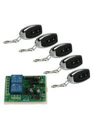 5 Pcs Universal Wireless Remote Switch Control and Relay Receiver Module -