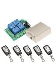 Relay Receiver Module and 5 Pcs 433 Mhz RF Wireless Remote Control Switch -