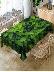 Waterproof Leaves Print Decorative Table Cloth -