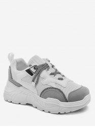 Net Patchwork Sports Shoes -