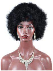 Short Shaggy Afro Curly Capless Synthetic Wig -