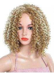 Medium Side Bang Colormix Kinky Curly Party Synthetic Wig -