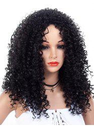 Inclined Bang Long Fluffy Kinky Curly Synthetic Wig -