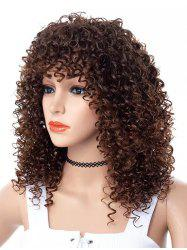 Full Bang Long Kinky Curly Party Capless Synthetic Wig -