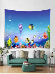 Sea World Fish Printed Tapestry Art Decoration -