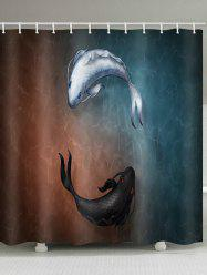 Fishes Print Shower Curtain -