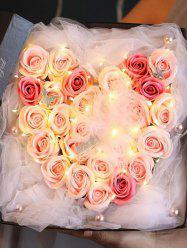 Roses With Lamp Soap Flower Gift Box -