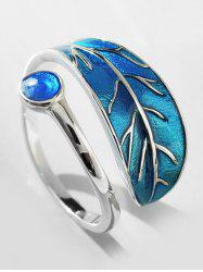 Personalized Artificial Sapphire Ring Of Leaf -