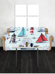 Anchor Boat Pattern Couch Cover -