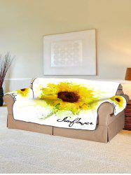 Sunflower Print Couch Cover -
