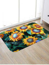 Sunflower Pattern Decorative Floor Mat -