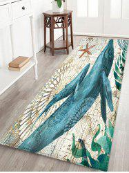 Whale Printed Decorative Floor Mat -