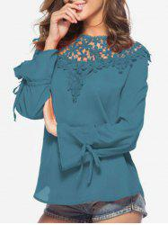 Crochet Trim Chiffon Top -