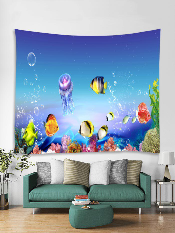 Unique Sea World Fish Printed Tapestry Art Decoration