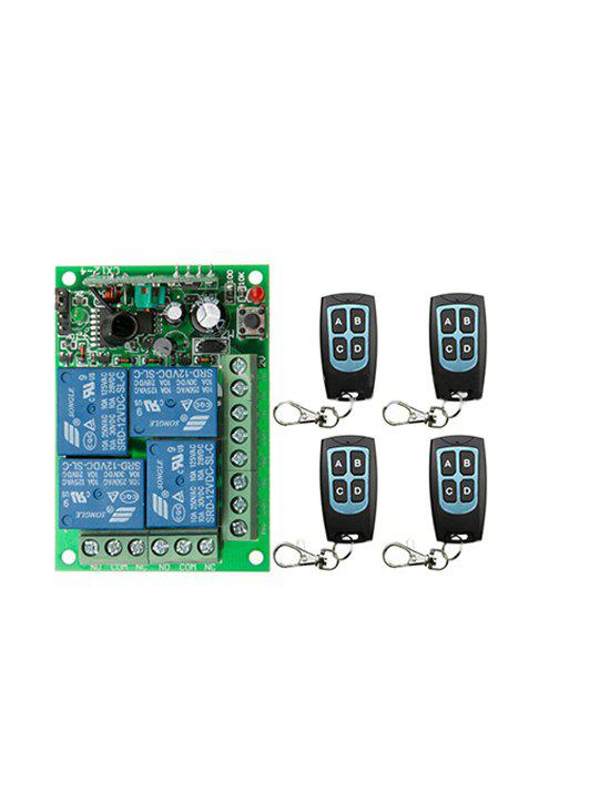 Chic 4 Pcs RF Wireless Remote Switch Control and 433 MHz Universal Relay Receiving Module