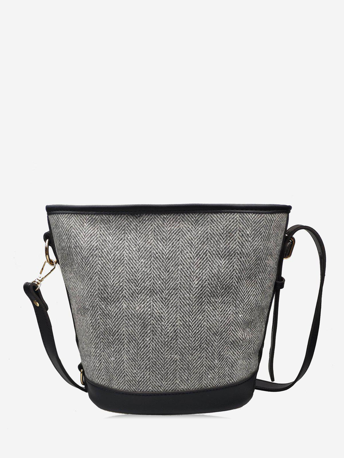 New Knitted Canvas Bucket Shoulder Bag