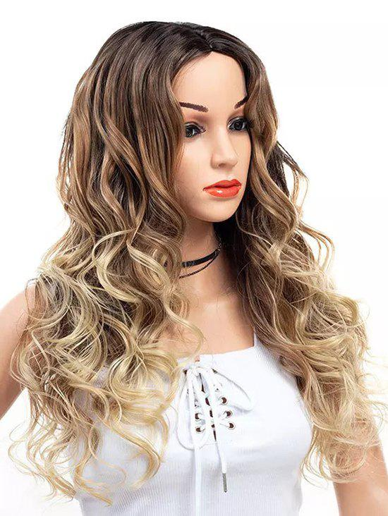 New Long Center Parting Wavy Colormix Capless Synthetic Wig