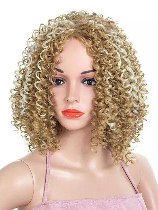Hot Medium Side Bang Colormix Kinky Curly Party Synthetic Wig