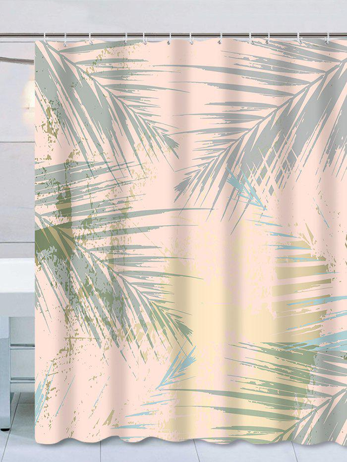 Chic Waterproof Palm Leaves Print Thicken Shower Curtain