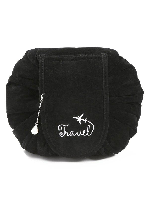 Best Faux Pearl Decoration Corduroy Cosmetic Bag