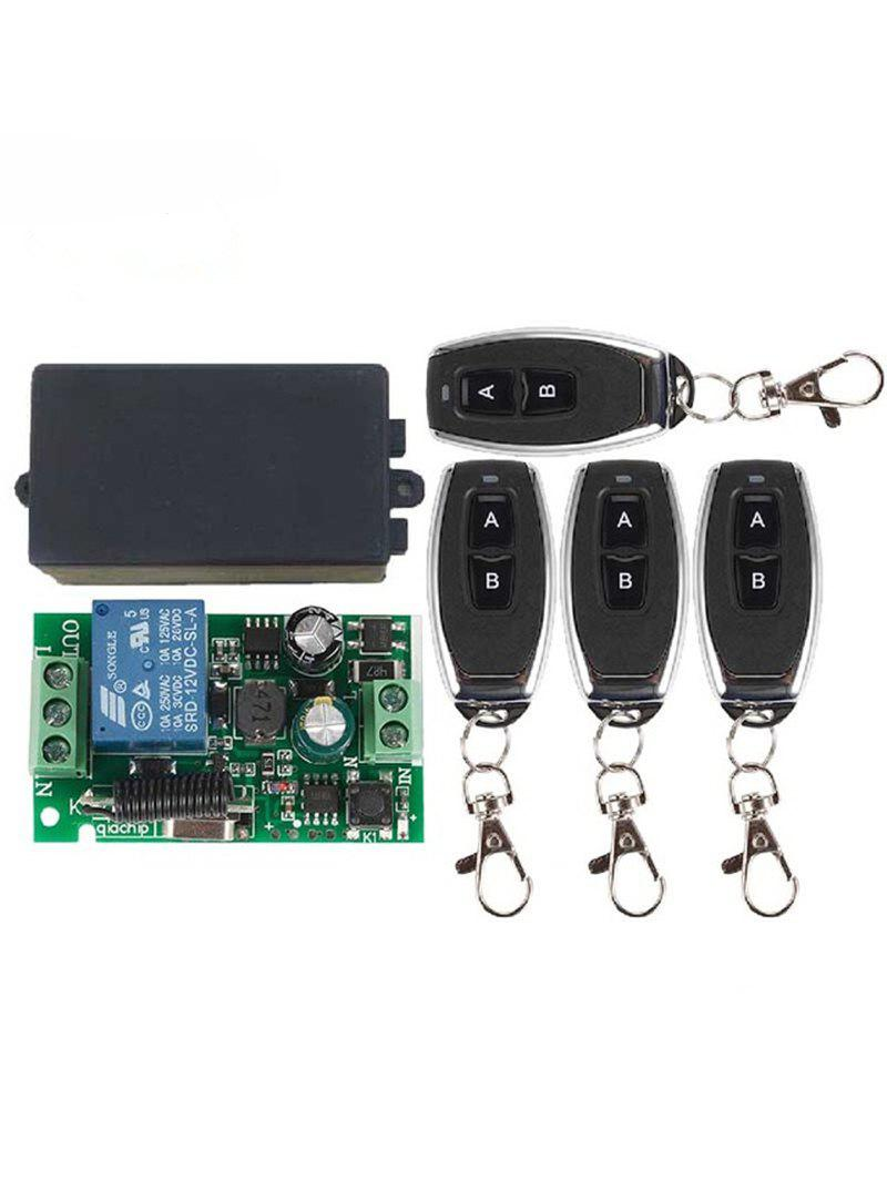 Chic 433 Mhz 4 Pcs Universal Wireless Remote Switch Control and Relay Receiver Module