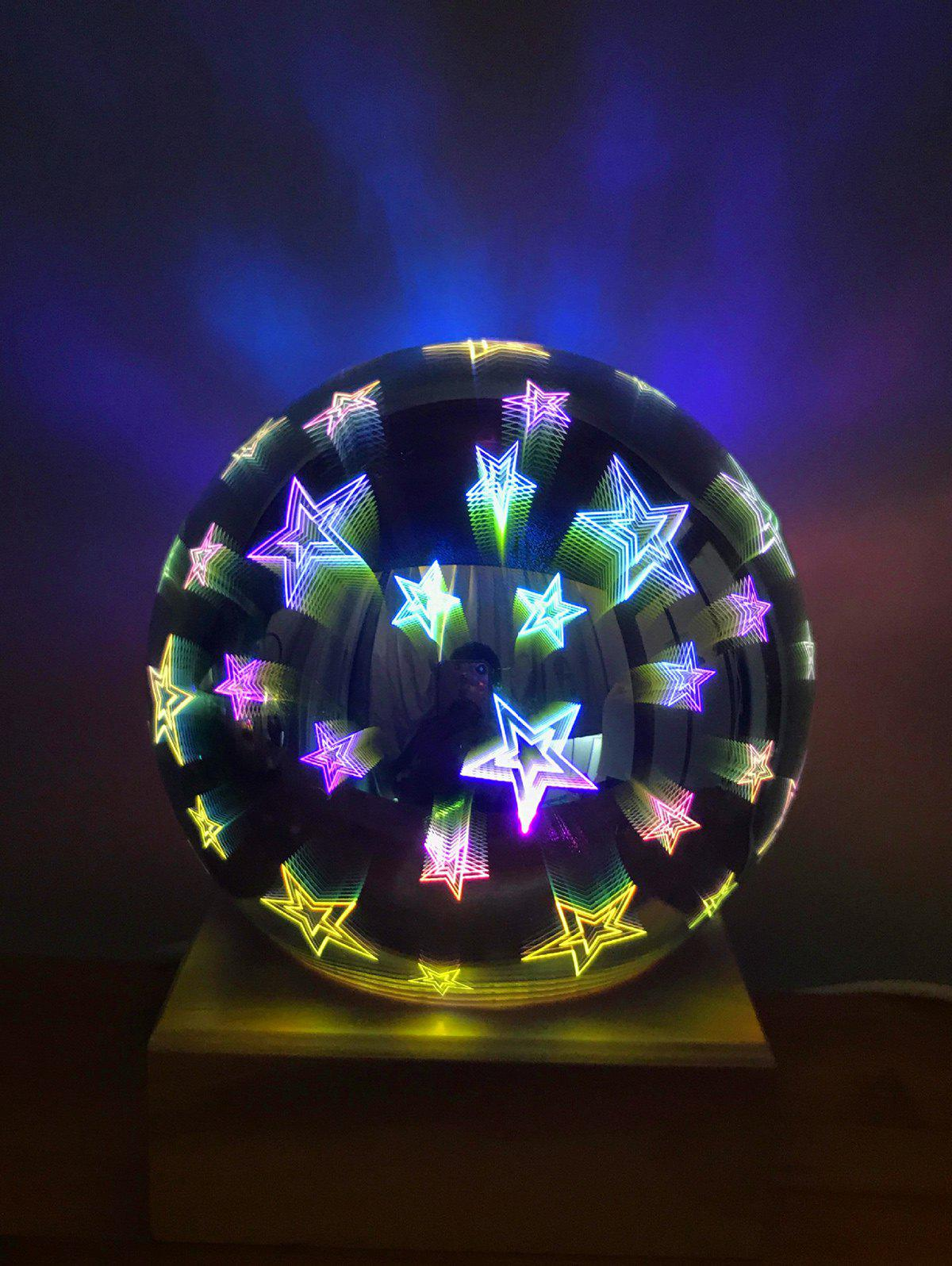 Fancy 3D Glass Cover Firework Stars LED Night Light