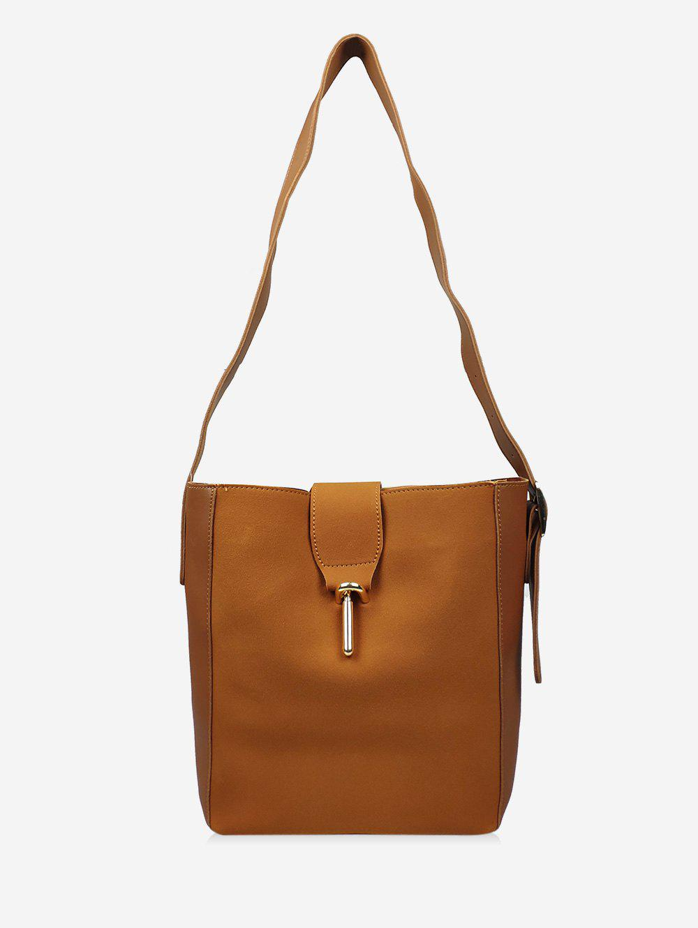 Shop Leather Bucket Single Shoulder Bag