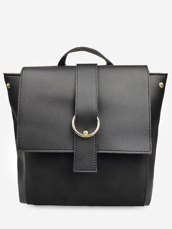 Unique Frosting Leather Cover Backpack
