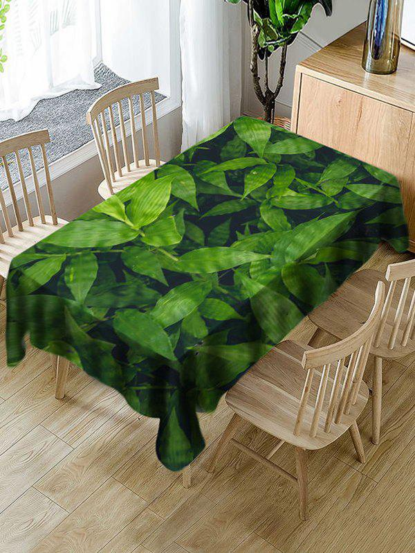 Discount Waterproof Leaves Print Decorative Table Cloth