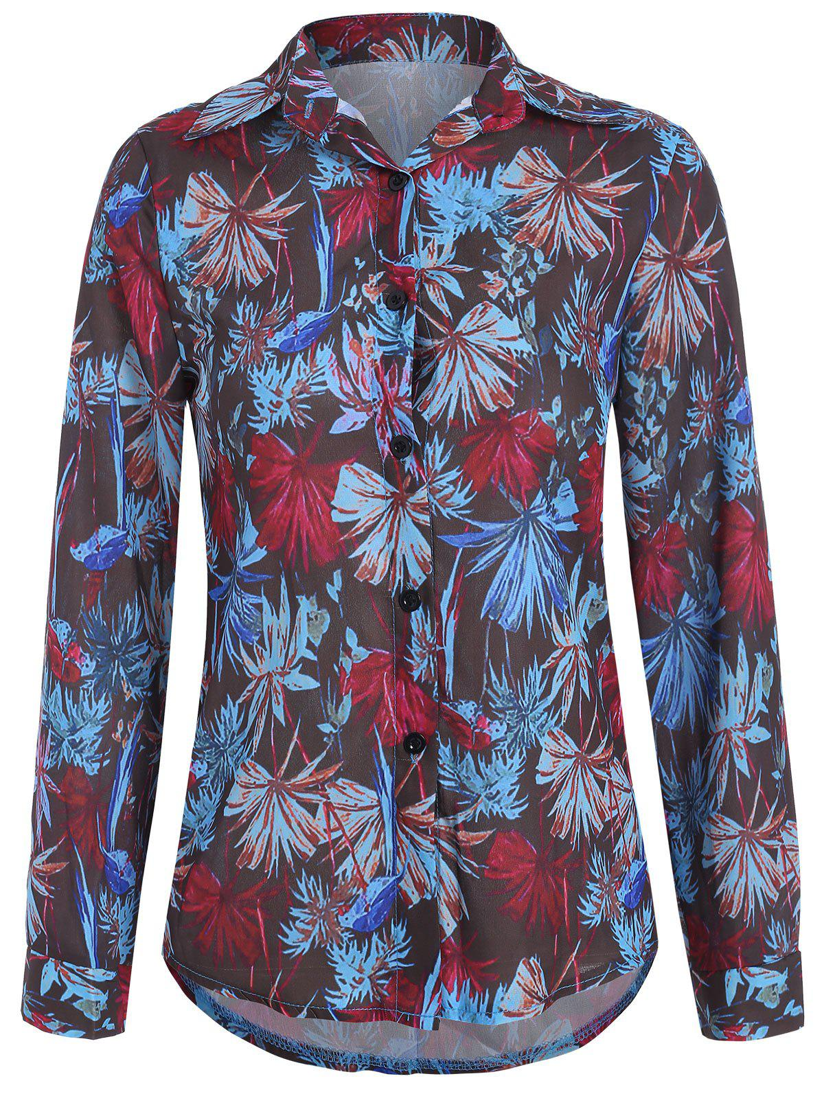 Cheap Casual Floral Printed Shirt