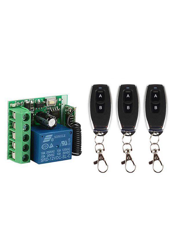 Shops 2 Pcs 433Mhz RF Remote Control and 2 Channel Receiver Module
